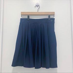 Pretty Little Thing Navy Pleated Miniskirt
